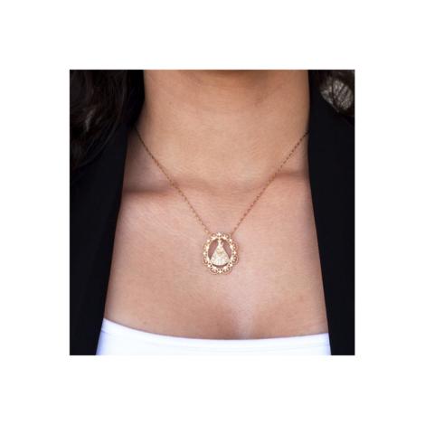 531626 542064 colar sirio de nazare joia folheada ouro 18k com zirconias rommanel brilho folheados