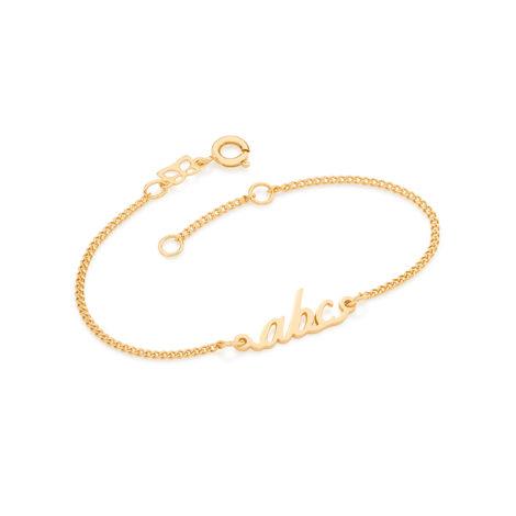 551502 pulseira infantil corrente lixada elos com pingente vazado abc joia para formatura brilho folheados rommanel