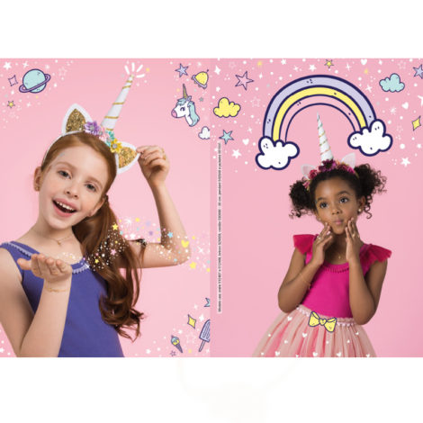 kids collection menina rommanel brilho folheados