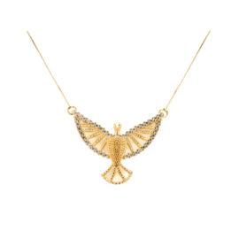 1900385 feminino pingente passaro do espirito santo de deus com zirconias brancas joia folheada ouro 18k brilho folheados sabrina joias