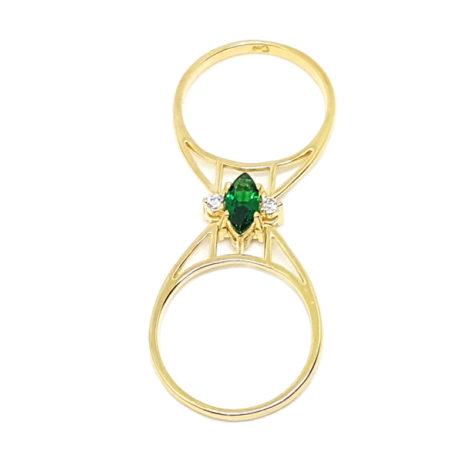 1910672 anel de formatura montavel brilho folheados anel 2 em 1