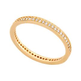 511880 anel aparador de aliança todo rodeado cravejado com zirconias joia folheada em ouro amarelo 18k brilho folheados rommanel