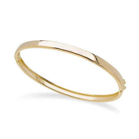 1700410 bracelete bipartido com trava liso acabamento polido joia folheada ouro amarelo 18k brilho folheados sabrina joias