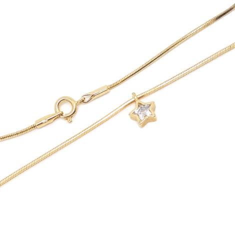 1717600 tornozeleira feminina com pingente estrela de zirconia 23cm de comprimento brilho folheados sabrina joias