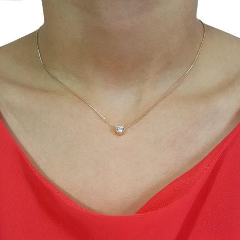 1900205 colar corrente veneziana ponto de luz de zirconia folheado a ouro 18k brilho folheados sabrina joias