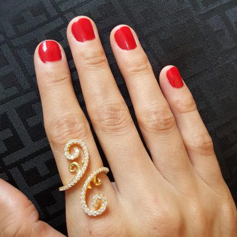 1910502 anel caule de rosa com espinhos foto na mao da modelo sabrina joias brilho folheados