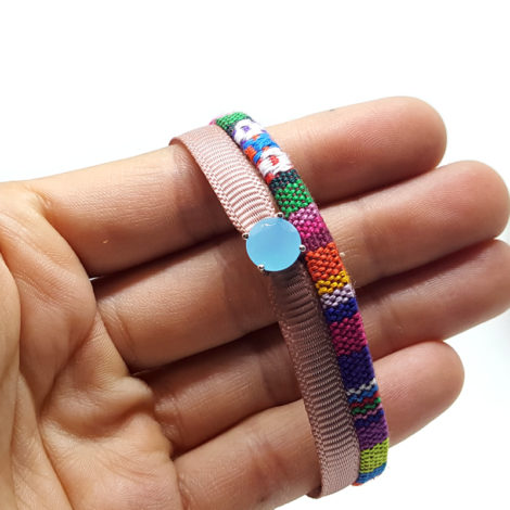 linda pulseira couro feminina colorida brilho folheados