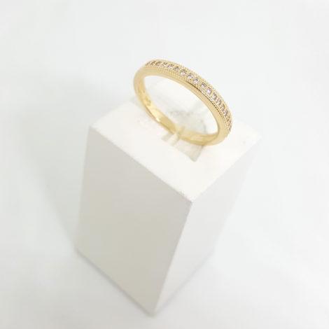 1910469 anel aparador de alianca com zirconia folheado ouro amarelo 18k