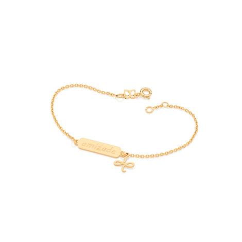 551516 pulseira amizade pingente simbolo amizade pendurado joia folheada ouro 18k brilho folheados rommanel
