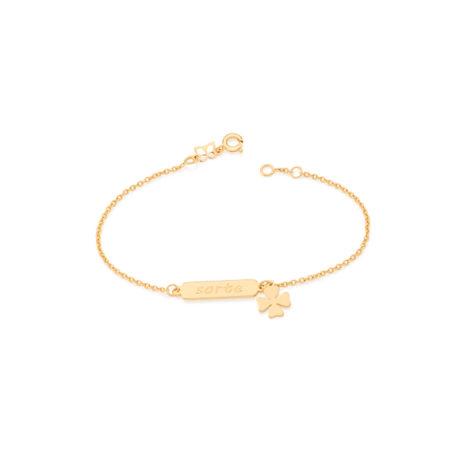 551518 pulseira feminina sorte joia folheada ouro 18k brilho folheados rommanel