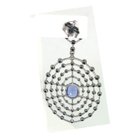 1690048 brinco grande com bolas macicas e cristal roxo violeta folheado rodio negro sabrina joias brilho folheados