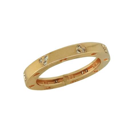 1910022 anel fino aro saltado folheado ouro rose com mini coracoes em zirconia branca brilhante sabrina joia brilho folheados