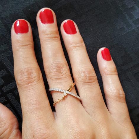 1910719 anel x corrente marca sabrina joias loja brilho folheados