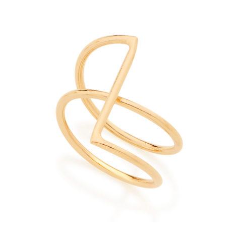 512565 anel espiral aro duplo desenho geometrico rommanel 2018 colecao raquel brilho folheados
