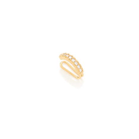 525876 brinco ear cuff pressao cravejado 8 com zirconias joia folheado a ouro rommanel brilho folheados