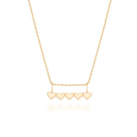 531895 colar gargantilha formada por fio cartier com pingente canga formado por 4 coracoes interligados fechamento pratico para pendurar pingentes rommanel brilho