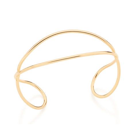 Bracelete fio de tubo liso entrelaçado