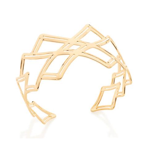 Bracelete largo com peças de losangos