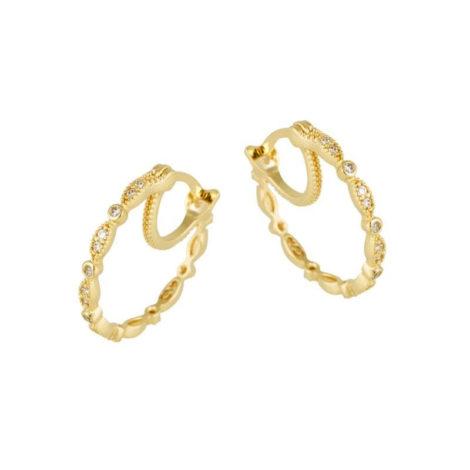 1689521 brinco argola com base dupla design leve com detalhes cravejados por zirconias brancas joia folheada ouro 18k brilho folheados sabrina joias
