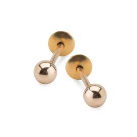 1689627 brinco bolinha mini com tarraxa baby folheado ouro18 sabrina joias brilho folheados