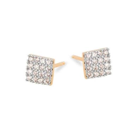 1689924 brino quadrado mini cravejado com zirconias brancas joia folheada ouro 18k sabrina joias brilho folheados