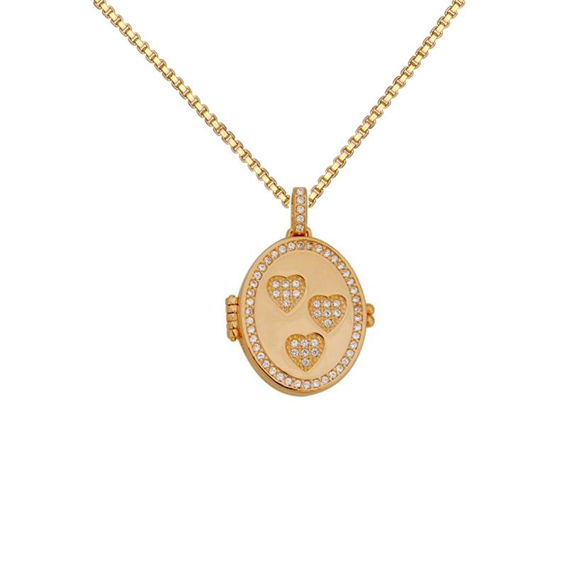 Colar pingente relicário para foto Bruna Semijoias folheado a ouro 18k b30f1381c3