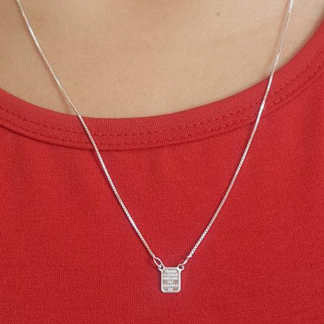 ecapulário unissex com medalha mini do sagrado coracao de jesus e nossa senhora aparecida com oracao em prata pura brilho folheados 5