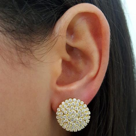 maxi binco redondo com strass branco folheado a ouro 18k gratis tarraxa sutiã de orelha folheado ouro 18k brilho folhedos foto modelo