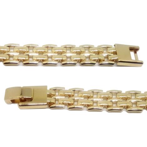 119e18 pulseira lajotinha feminina folheada ouro 18k brilho sabrina joias folheados