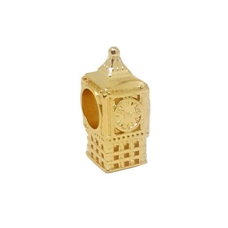Berloque big ben relógio de Londres dourado