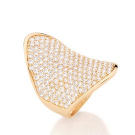 Anel largo navete 213 zircônias branco diamante