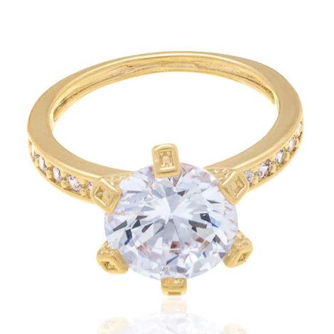 511649 anel solitário maxi zirconia solitaria e zirconias pequenas no aro rommanel loja brilho folheados 2
