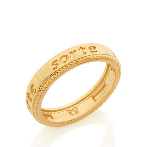 Anel sorte estilo aliança folheado ouro
