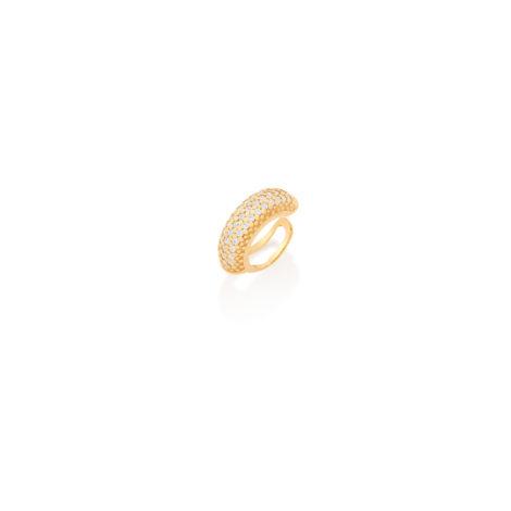 526120 piercing de pressao para cartilagem da orelha cravejado com 40 zirconias branas joia folheada rommanel brilho folheados