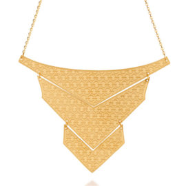 Maxi colar 3 triângulos foscos articulados