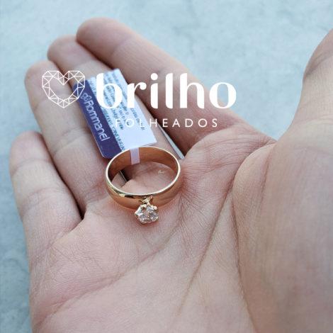 511401 anel solitario largo com zirconina marca rommanel loja brilho folheados compre 3