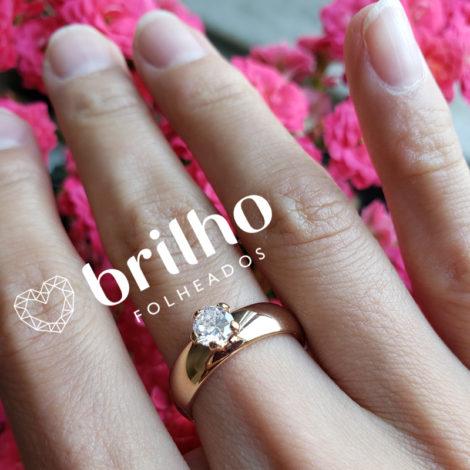 511401 anel solitario largo com zirconina marca rommanel loja brilho folheados compre 4
