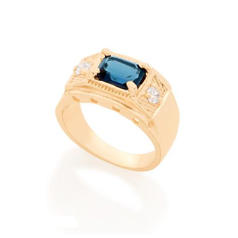 Anel de formatura masculino azul 512641