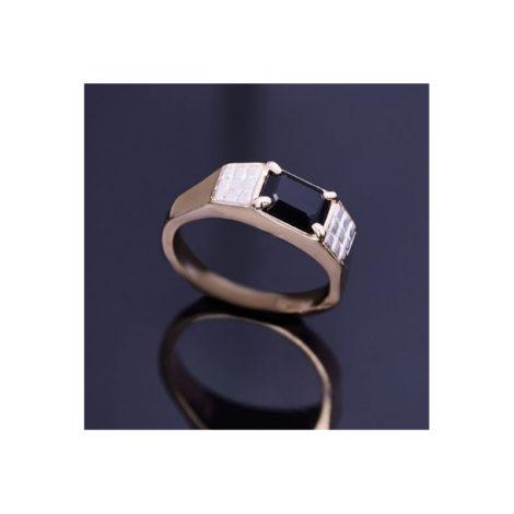 512641 anel com cristal preto rommanel colecao homem brilho folheados foto modelo