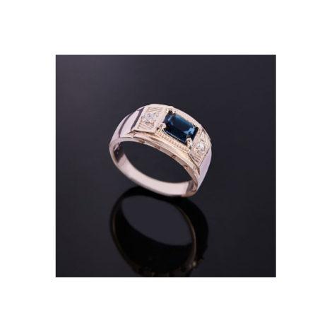 512642 anel cristal azul com zirconias rommanel colecao homem brilho folheados foto modelo