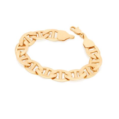 551567 Pulseira formada por fio de elos longos texturizados colecao rommanel homem joia folheada ouro brilho folheados