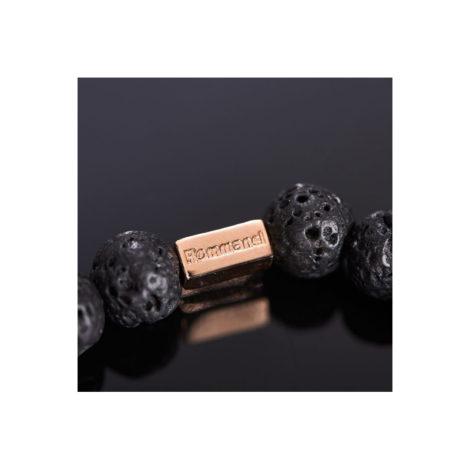 551569 pulseira pedras pretas rommanel colecao homem brilho folheados foto modelo 1