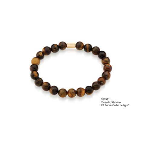 551571 Pulseira shamballa formada por 23 pedras marrom olho de tigre marca rommanel brilho folheados colecao homem 1