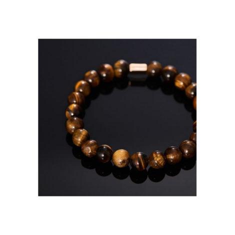 551571 pulseira pedras olho de tigre rommanel colecao homem brilho folheados foto modelo