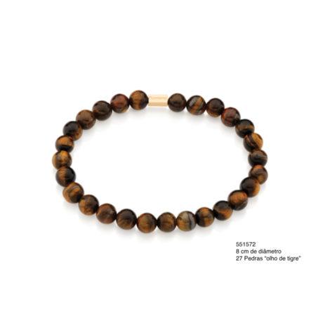 551572 Pulseira shamballa formada por 27 pedras marrom olho de tigre marca rommanel brilho folheados colecao homem 1