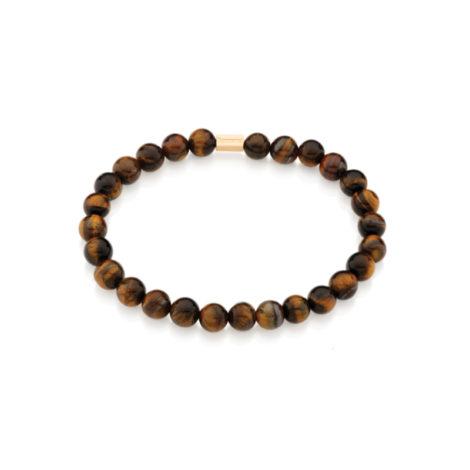 551572 Pulseira shamballa formada por 27 pedras marrom olho de tigre marca rommanel brilho folheados colecao homem