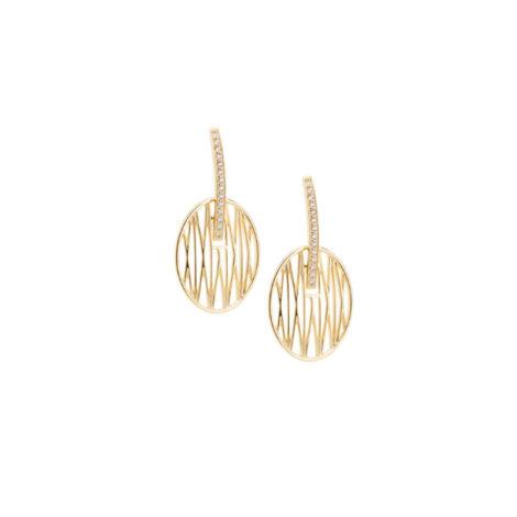 1690186 brinco palito de zirconias com peca oval solar vazado folheado a ouro dourado 18k brilho folheados sabrina joias colecao 2018