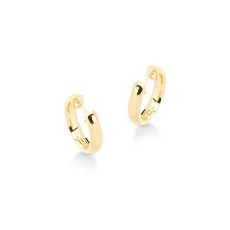 1690243 brinco argola lisa pequena folheada ouro 18k muito similar a uma joia de ouro mesmo brilho folheados sabrina joias