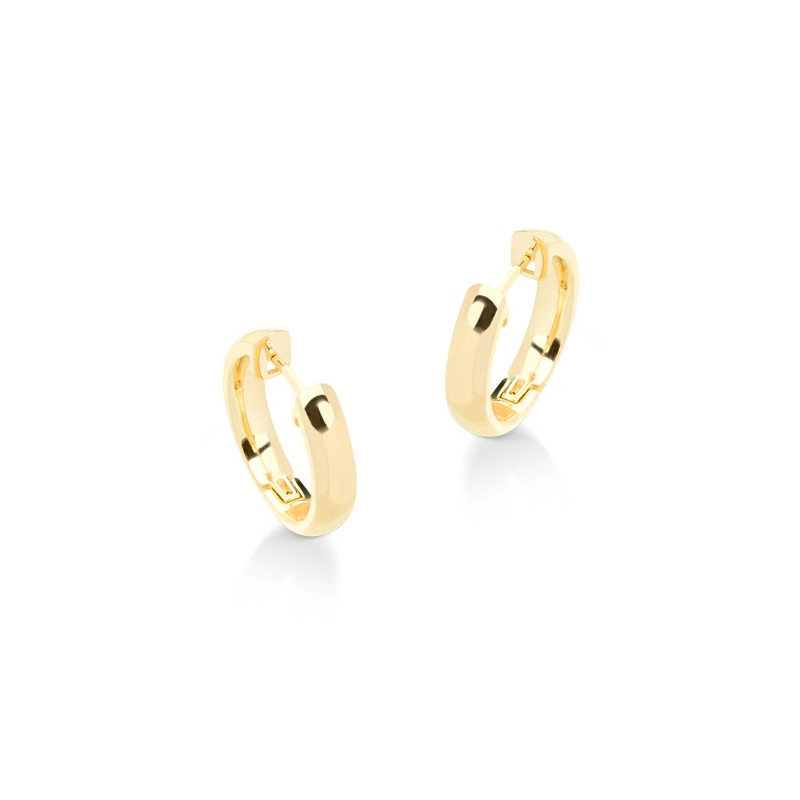 7d693735c741a Brinco argola pequena e lisa folheada a ouro dourado 18k Sabrina Joias