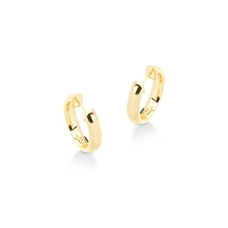 Brinco argola pequena e lisa folheada a ouro dourado 18k Sabrina Joias 0a6ee74824